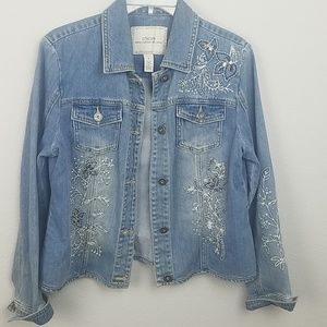 Chicos denim jacket size medium